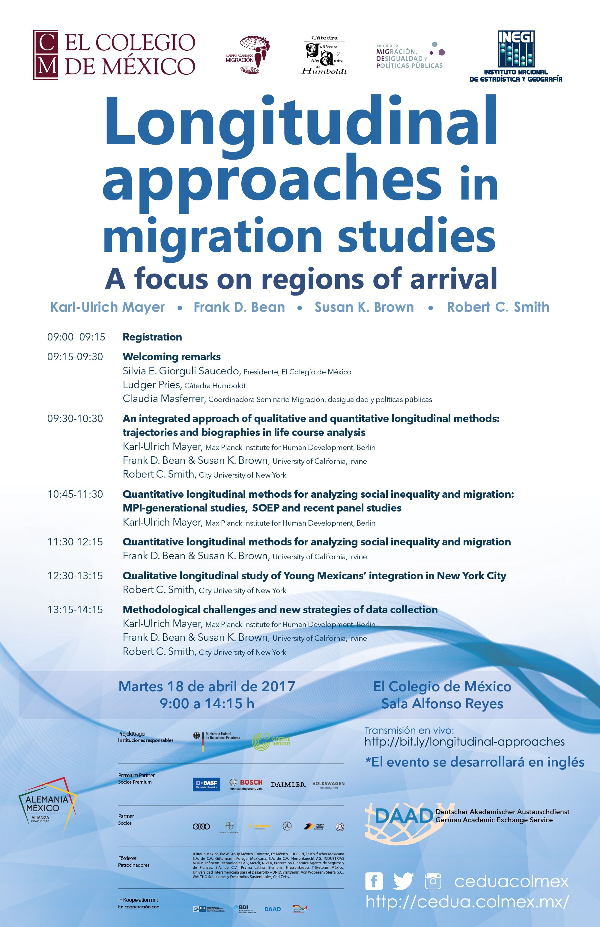 Seminario sobre aproximaciones longitudinales en los estudios de migración. Regiones de arribo./ Longitudinal approaches in migration studies. A focus on regions of arrival.