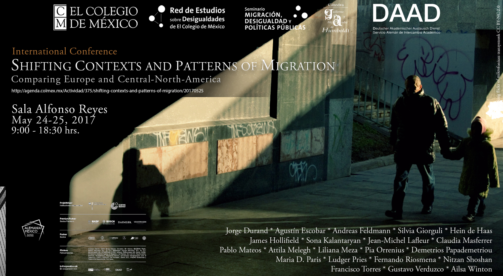 "Conferencia internacional ""Shifting Contexts and Patterns of Migration - Comparing Europe and Central-North-America"""