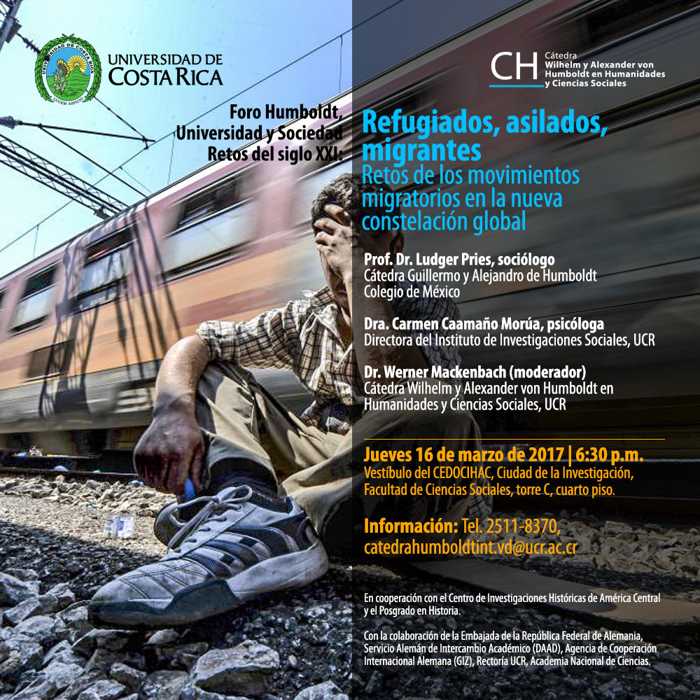 "Conferencia ""Refugiados, asilados, migrantes. Retos de los movimientos migratorios en la nueva constelación global"""
