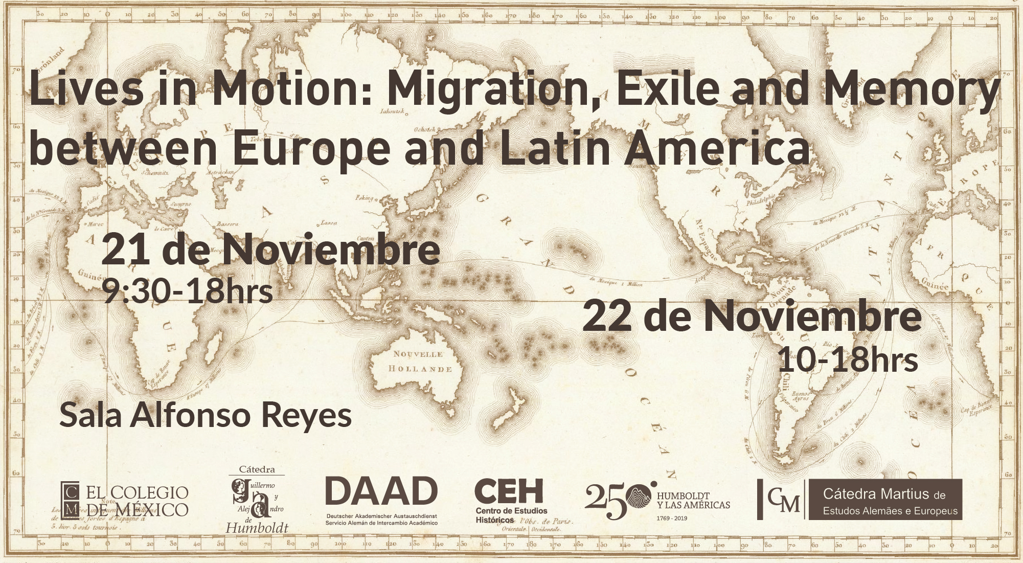 Conferencia internacional: Lives in motion: Migration, Exile, and Memory between Europe and Latin America